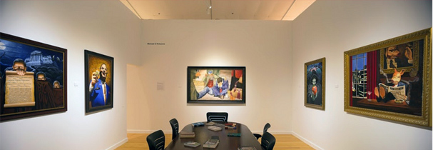Michael D'Antuono's corporate boardroom at Corpocracy exhibition