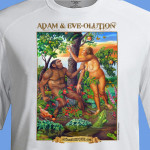 Adam & Eve-olution (creationism versus evolution) T-Shirt