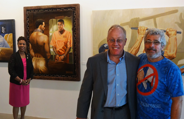 Rep. Barbara Lee, Chris Hedges and Michael D'Antuono at Truth To Power