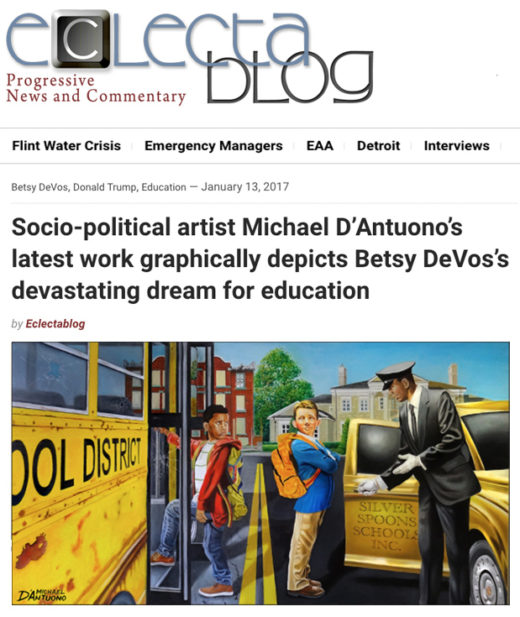 Electablog article on Michael D'Antuono painting Class System