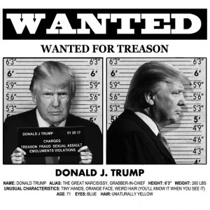 Michael D'Antuono's Wanted Poster of Donald Trump