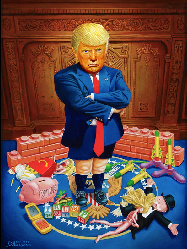 The Petulant President (The Official Portrait of 45)