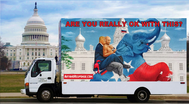 One of Michael D'Antuono's Country First Trucks circling the Capitol Building