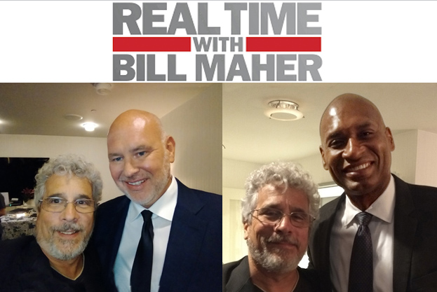 Michael D'Antuono with Steve Schmidt and Charles Blow at Real Time After Party