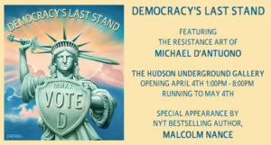 exhibition notice of Michael D'Antuono's show with Malcolm Nance